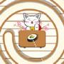 Paquets de sushis par une chatte