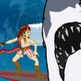 Surfeur contre requins